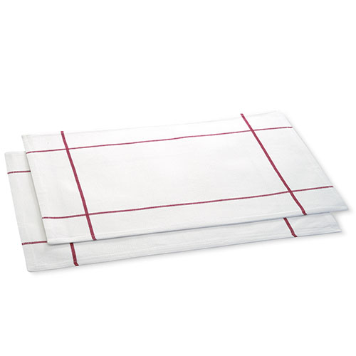 White Windowpane Placemat Set