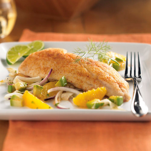 Red Snapper with Citrus-Avocado Salad